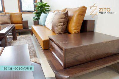 Sofa gỗ zg 128 được gia công tỉ mỉ