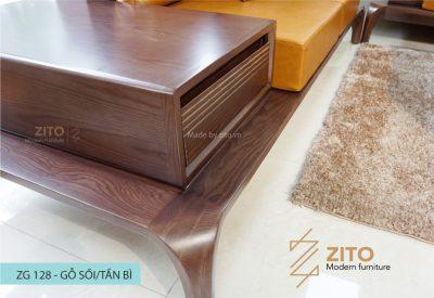 zg 128 có thiết kế tay gỗ bản to