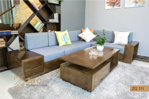 sofa gỗ sồi ZG 111 S08, ZG 111 S08