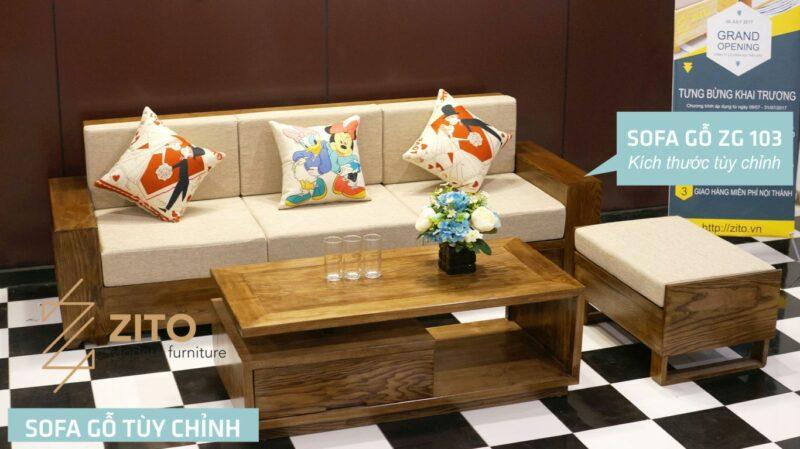 sofa go zito tuy chinh 103 1 Sofa gỗ Sồi văng ZG 103 S08