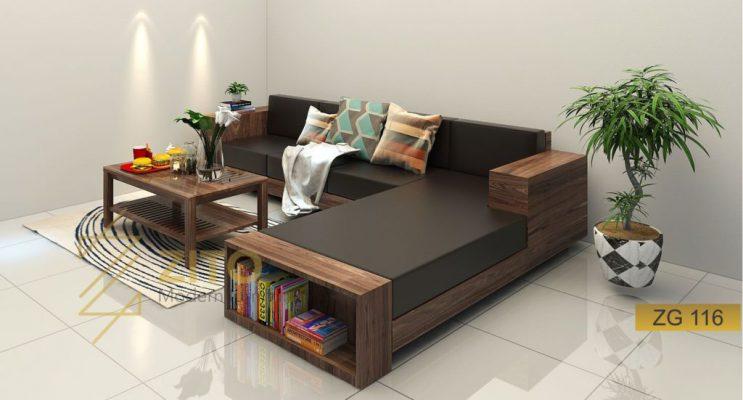 Sofa góc l gỗ tự nhiên ZG 116