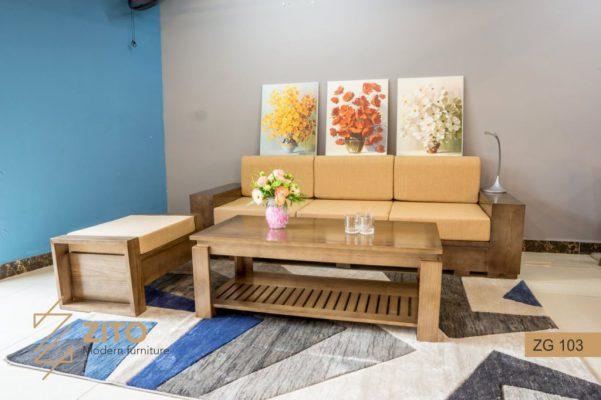 Sofa gỗ Sồi văng ZG 103 S08