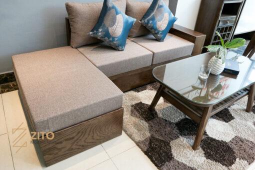 Cobo sofa văng gỗ ZG 135 cho phòng khách hiện đại