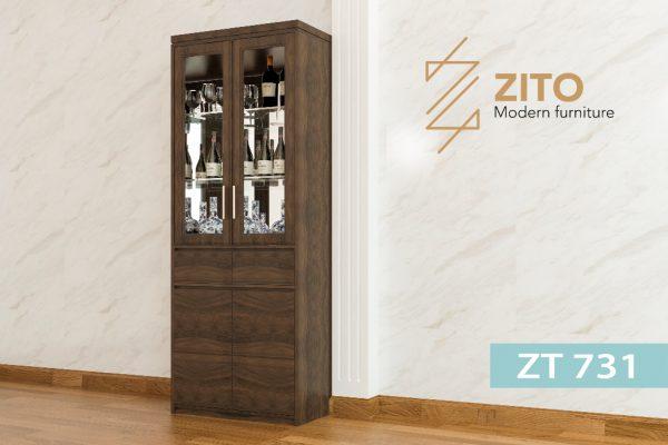 Tủ rượu gỗ Sồi ZT 731