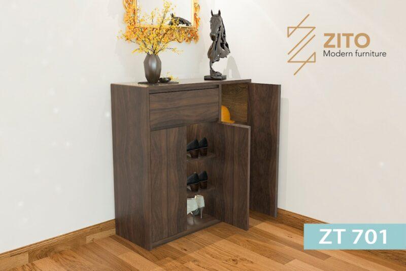 tu giay ZT 701 2 1 Tủ giày gỗ Sồi ZT 701