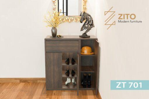 tu giay ZT 701 2 2 Tủ giày gỗ Sồi ZT 701