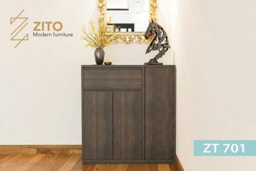 tu giay ZT 701 2 3 Tủ giày gỗ Sồi ZT 701