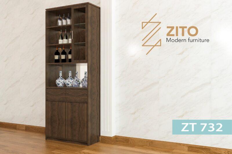 tu ruou go ZT 732 1 1 Tủ rượu gỗ Sồi ZT 732