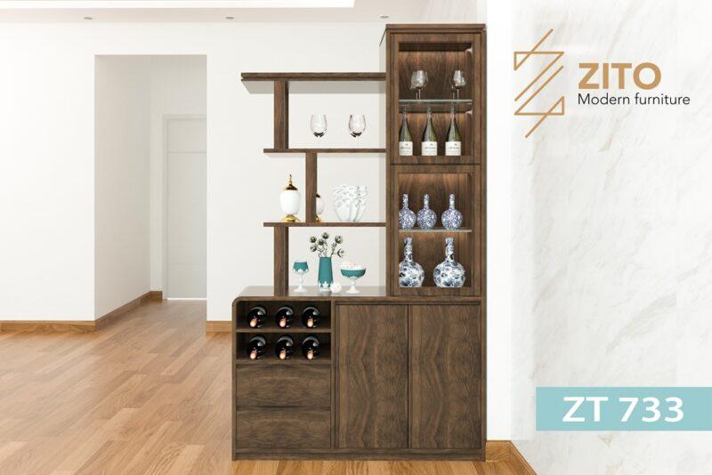 tu ruou go ZT 733 1 1 Tủ rượu gỗ Sồi ZT 733