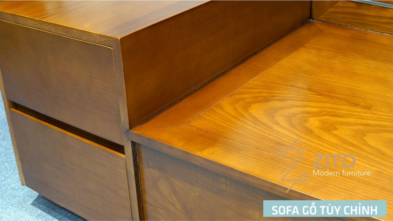 Bộ sofa góc L gỗ tự nhiên ZG 101 S04