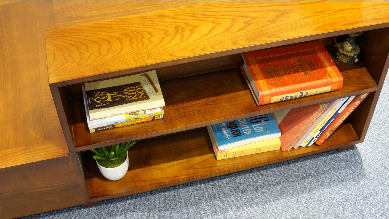 Sofa gỗ chữ L ZG 101 màu cánh dán sẫm