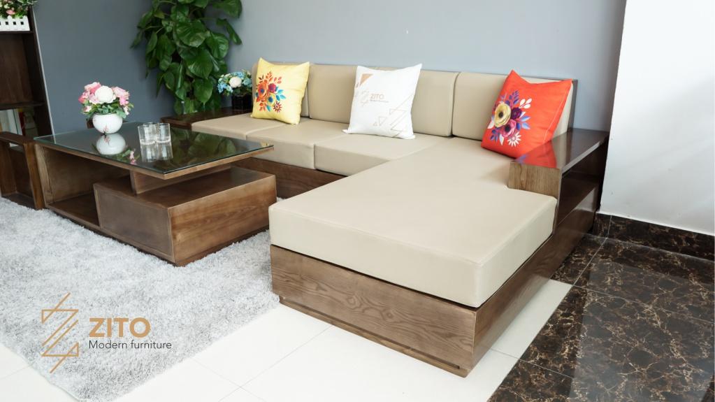 Thiết kế sáng tạo Sofa gỗ sồi ZG 101