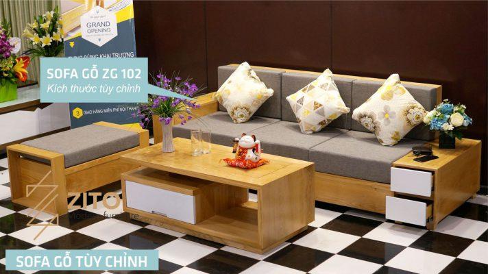 Sofa gỗ Sồi văng ZG 102 S03