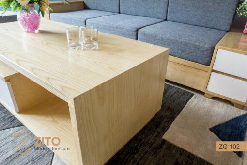 sofa ZG 102 gỗ sồi màu nguyên bản