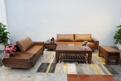 bộ sofa zg 127 gỗ óc chó