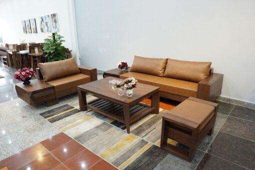 sofa zg 127 thiết kế hiện đại kết hợp bài trà gỗ