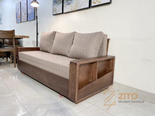 Ghế sofa giường bằng gỗ ZG 151 S08 tích hợp nhiều tiện ích