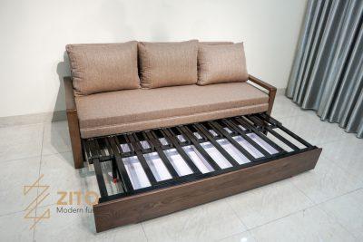 Sofa giường bằng gỗ ZG 154 được thiết kế chắc chắn