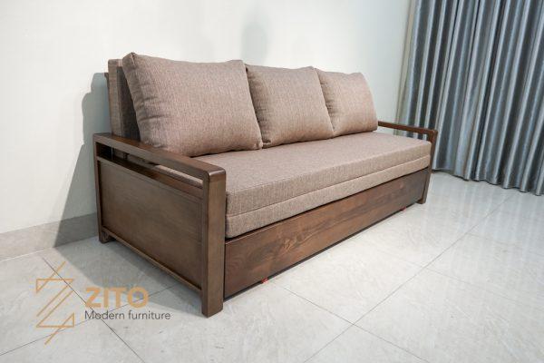 Sofa giường gỗ sồi ZG 154 S08