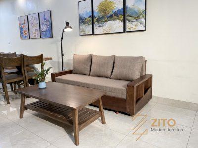 Kiểu dáng ghế sofa giường gỗ ZG 151 S08