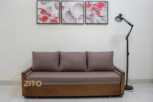Thiết kế sofa giường gỗ sồi ZG 152 với tiện ích 2 trong 1