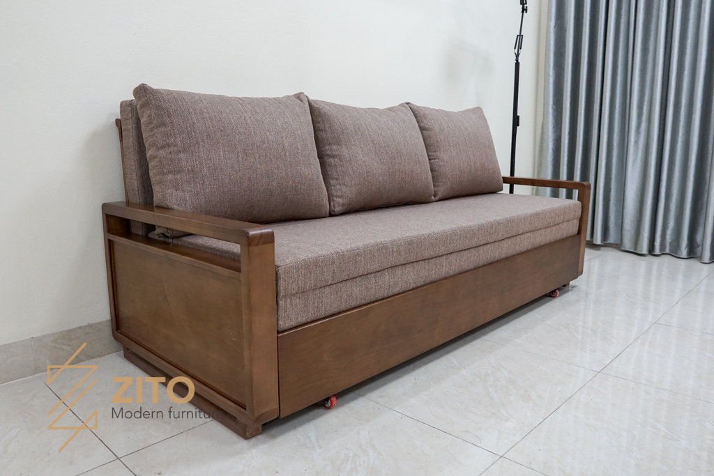 Thiết kế ghế sofa giường gỗ sồi nga ZG 152 thông minh