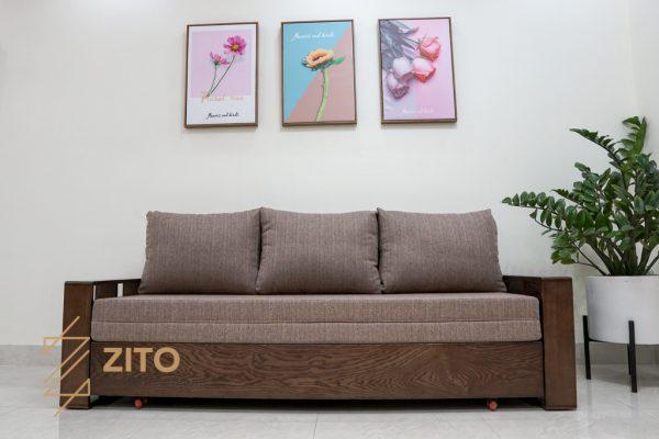 Chất liệu sofa giường ZG 153 làm từ gỗ tự nhiên cao cấp