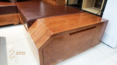 sofa gỗ hương đá chữ L ZG 118 GH, ZG 118 GH