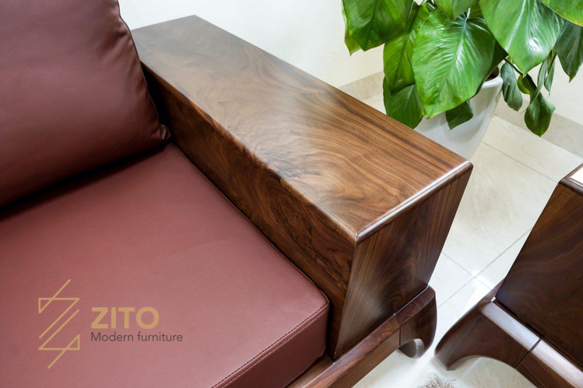 chất liệu đệm da cao cấp bọc ghế sofa hiện đại