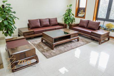 Sofa gỗ óc chó cao cấp ZG 156