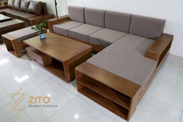 Sofa góc l gỗ sồi nga ZG 112 S06