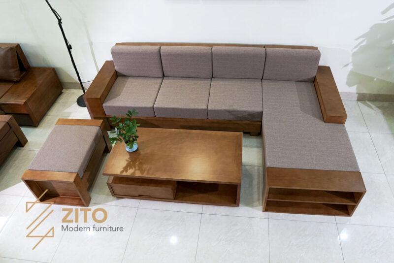 sofa gỗ sồi chữ L ZG 112 S06, ZG 112 S06