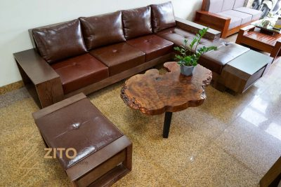 sofa gỗ sồi chữ L ZG 118 S09, ZG 118 S09