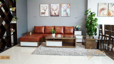 sofa gỗ chữ L ZG 105
