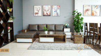 sofa gỗ sồi ZG 105