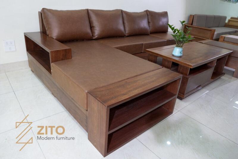 ZG 106 vừa là bộ sofa gỗ óc chó tiếp khách