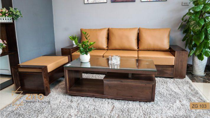 Sofa văng gỗ óc chó ZG 103 OC