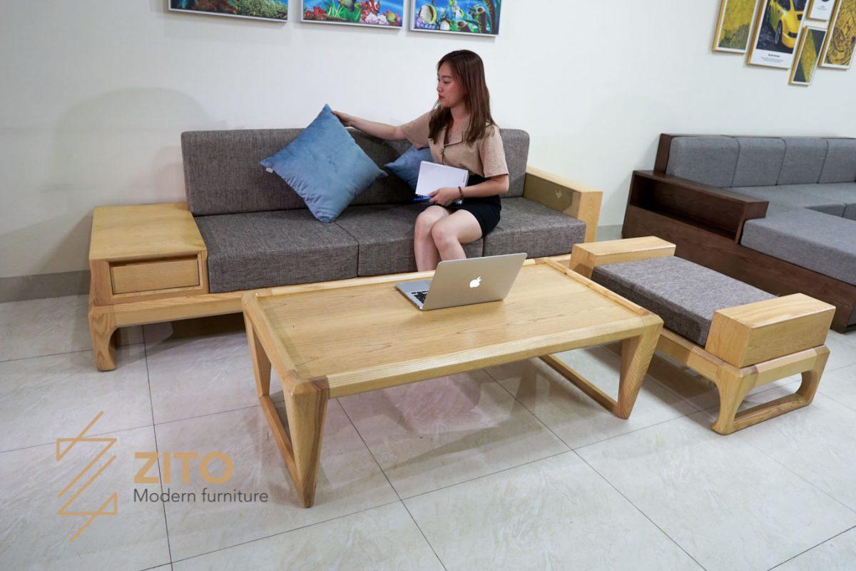 Sofa văng gỗ ZG 133 cho phòng khách chung cư vừa và nhỏ