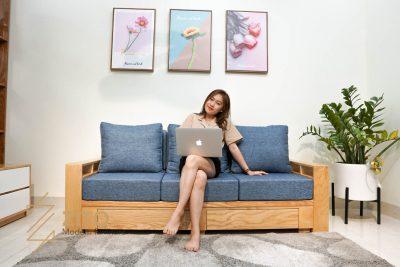 Sofa văng gỗ sồi ZG 140 S03 phù hợp với mọi không gian