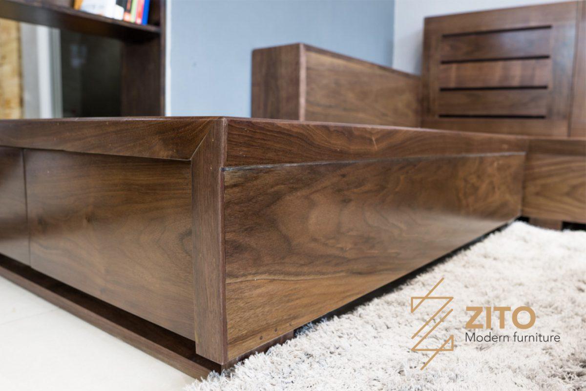 zg 105 gỗ óc chó thiết kế chân ghế chắc chắn