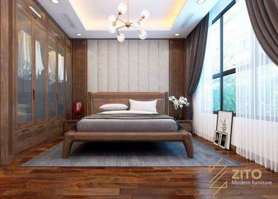 Giường gỗ tự nhiên ZA 801 sang trọng, cao cấp