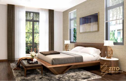 Giường gỗ tự nhiên ZA 802