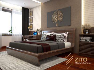 Giường gỗ tự nhiên ZA 806, ZA 806