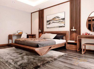 Giường ngủ gỗ tự nhiên ZA 802