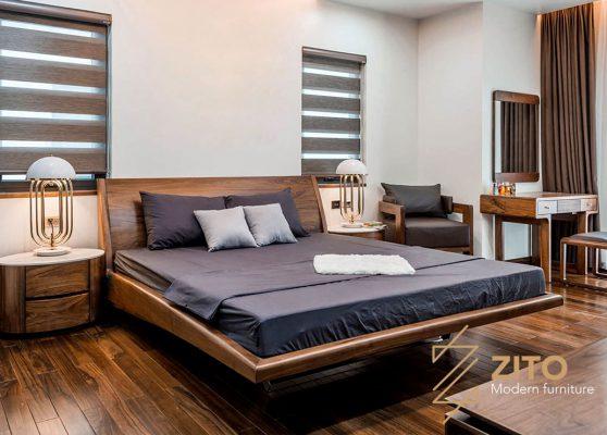 Giường gỗ tự nhiên ZA 803
