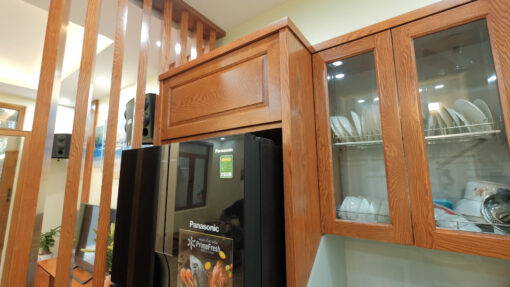 Khung tủ gỗ cho tủ lạnh thông minh