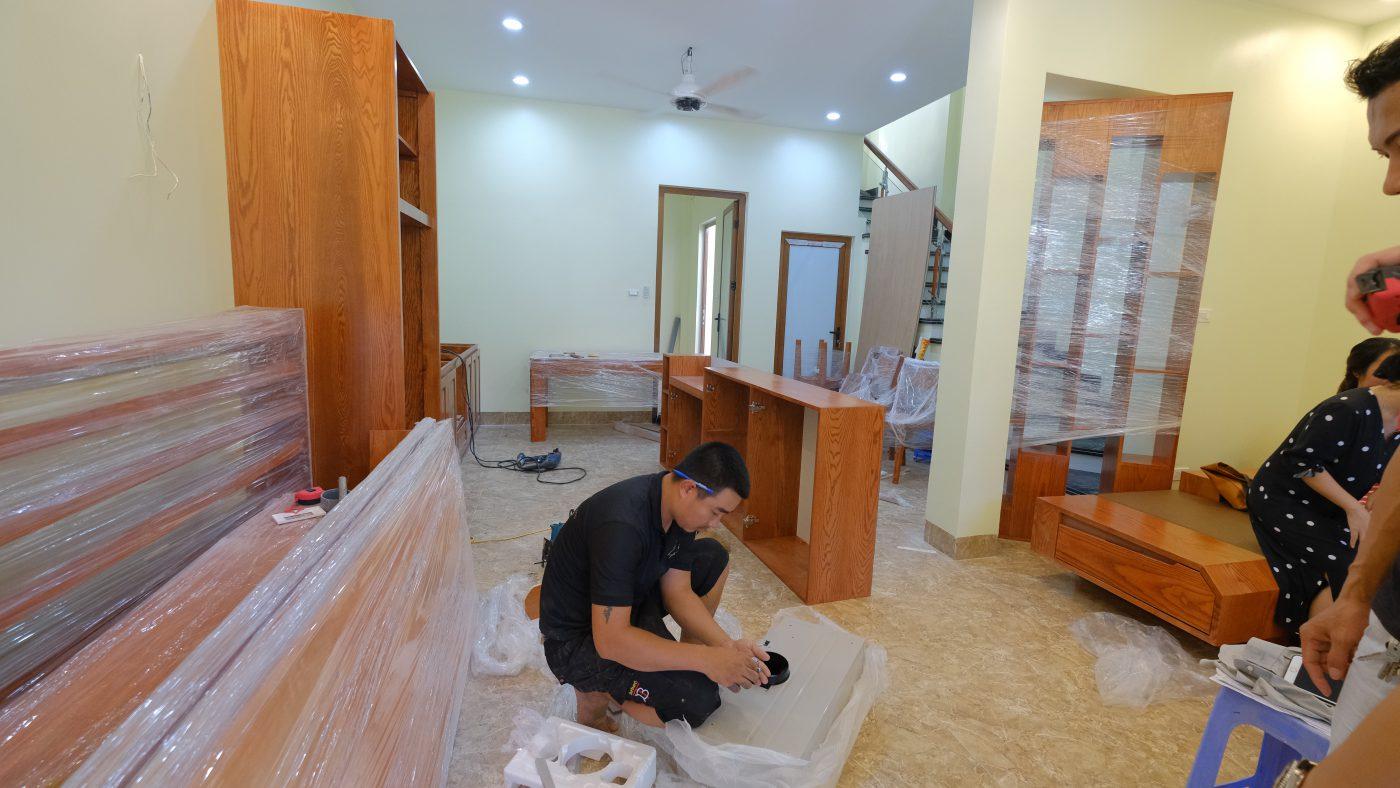 Quá trình thi công nội thất nhà 3 tầng