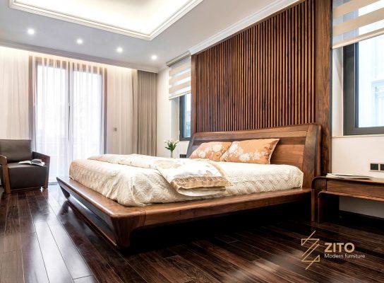 Thiết kế giường gỗ tự nhiên ZA 804