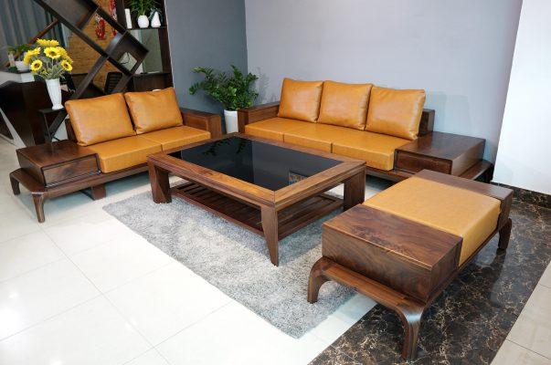 Sofa gỗ óc chó chữ U ZG 128 OC
