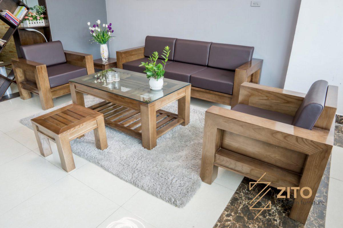sofa gỗ zg 124 cho không gian phòng khách liền kề